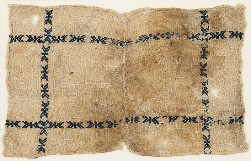 Textile fragment, possibly from a dish cover (EA1984.396, front            )