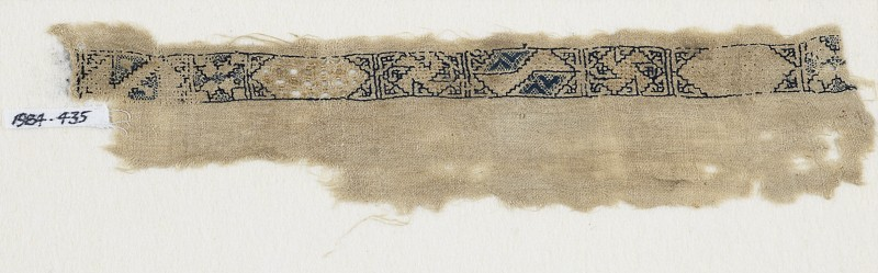 Textile fragment with band of cartouches, spirals, and stars (EA1984.435, front            )