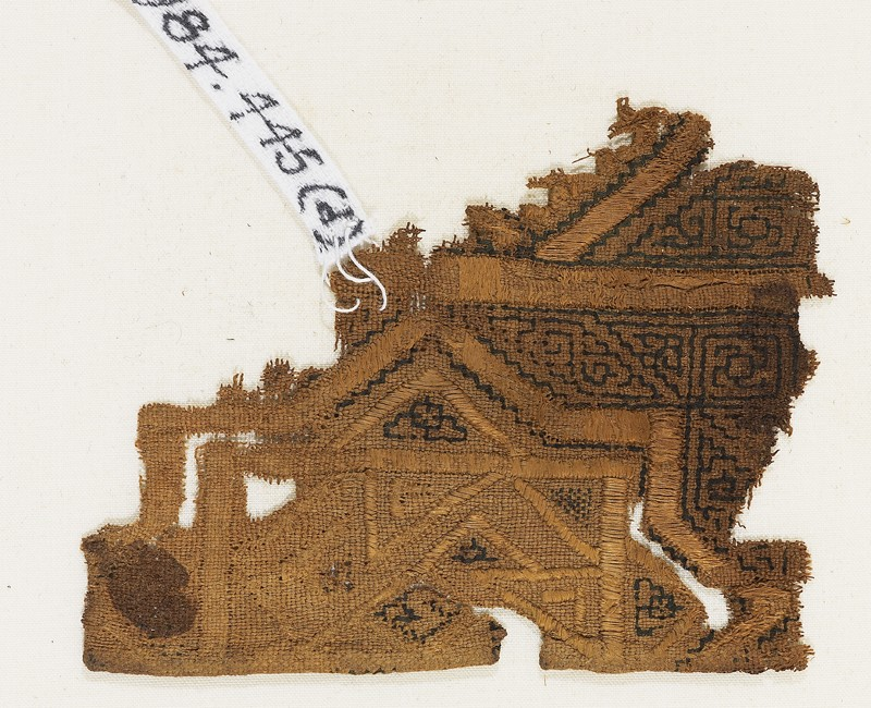 Textile fragment, possibly from a sash or shawl (EA1984.445.d, front              )