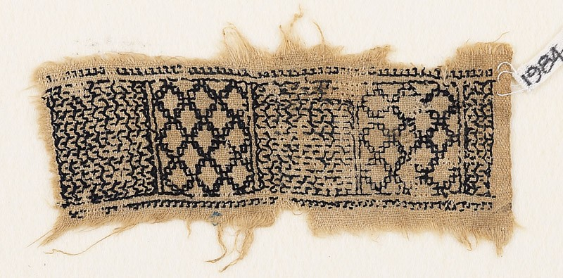 Textile fragment with chevrons and diamond-shapes (EA1984.541, front            )
