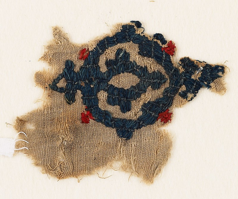 Textile fragment with medallion (EA1984.91, front           )