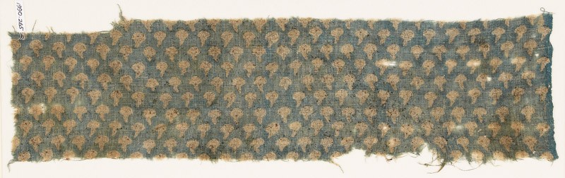 Textile fragment with small flowers