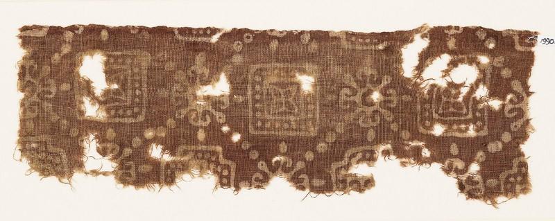 Textile fragment with squares, quatrefoils, and Maltese crosses (EA1990.339, front            )