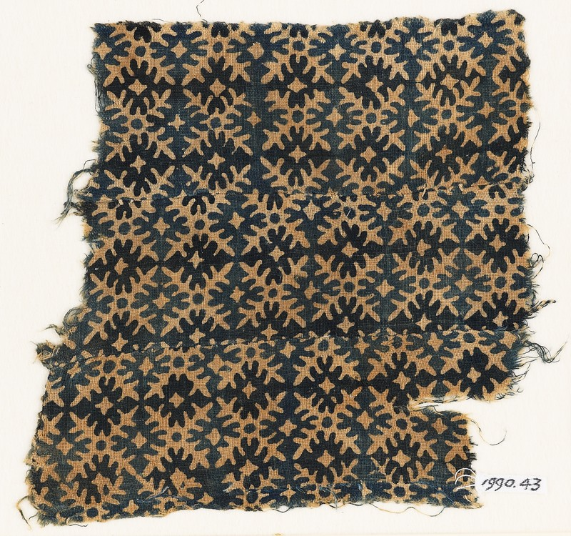 Textile fragment with serrated crosses (EA1990.43, front           )