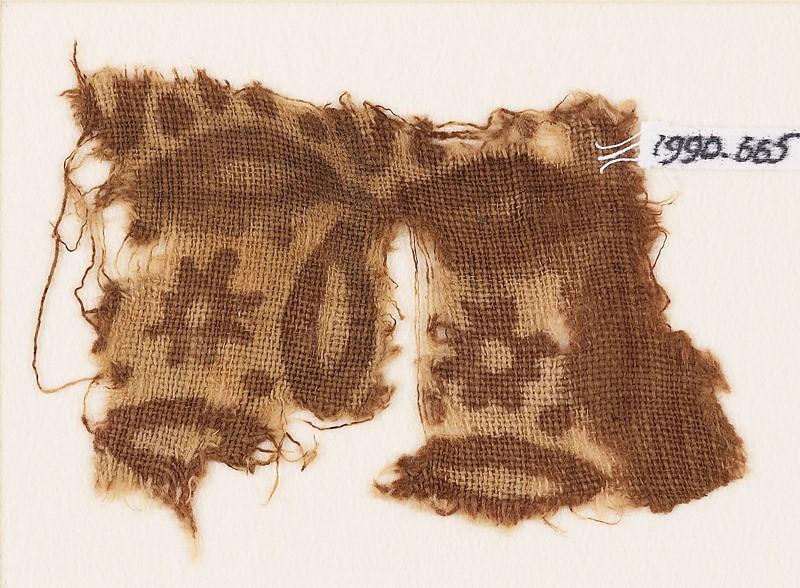 Textile fragment with rosettes and quatrefoils (EA1990.665, front            )