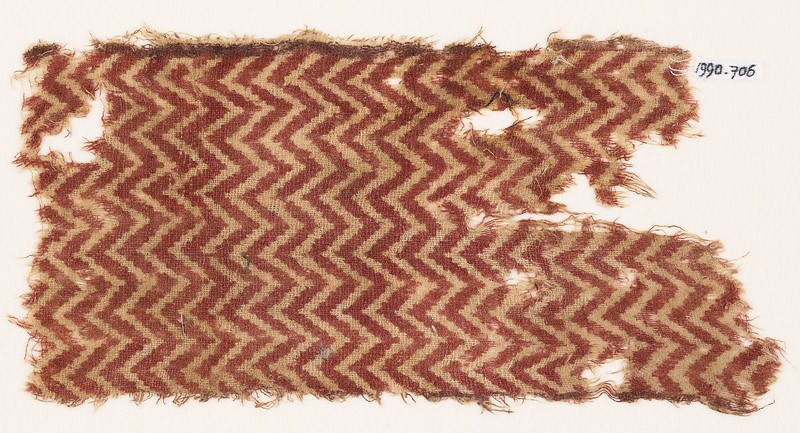 Textile fragment with chevrons (EA1990.706, front            )