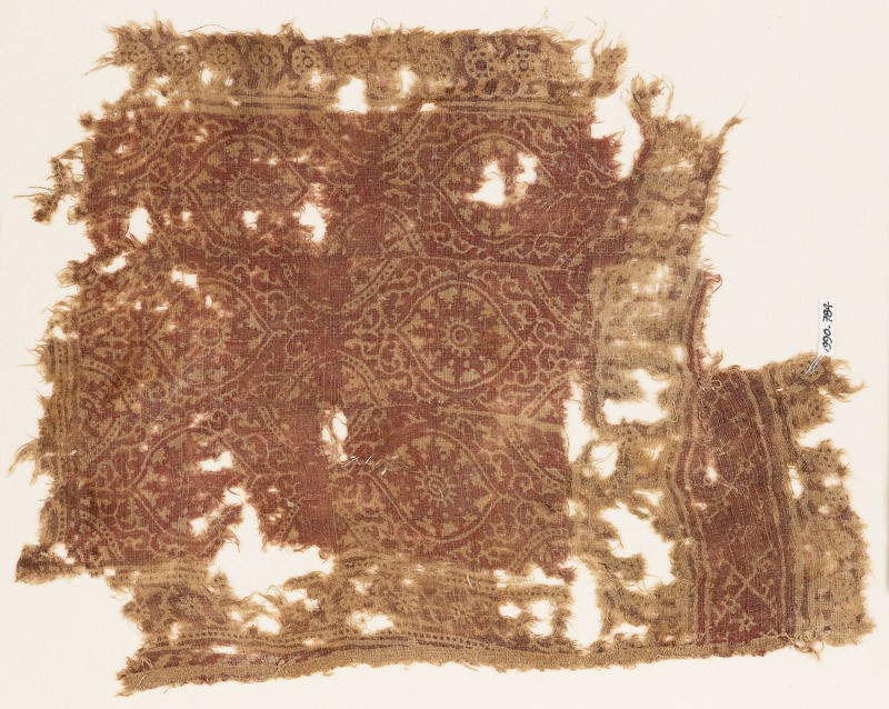 Textile fragment with oval medallions (EA1990.784, front            )