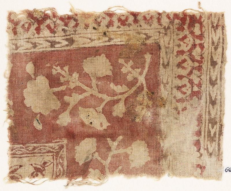 Textile fragment with flowers (EA1990.889, front            )