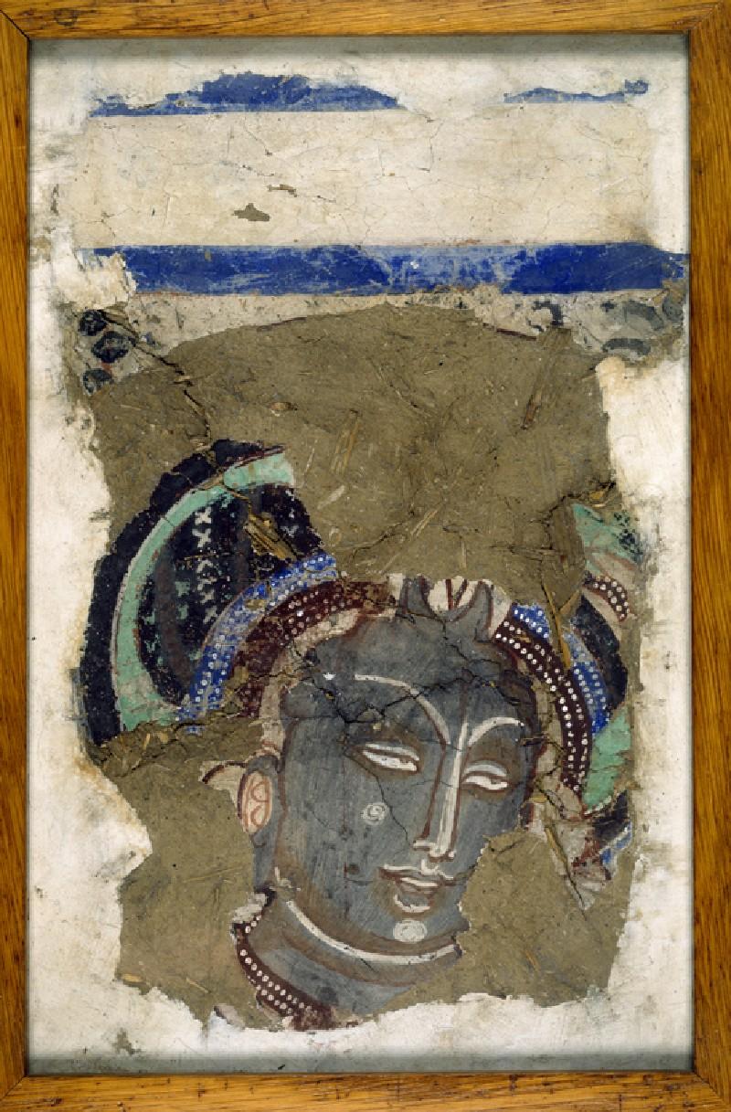 Head of an attendant figure (EA1990.1243, front             )