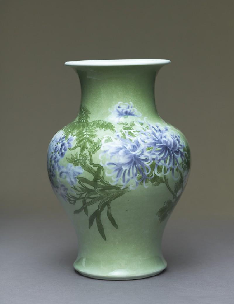 Baluster vase with flowers (EA1991.1, side          )