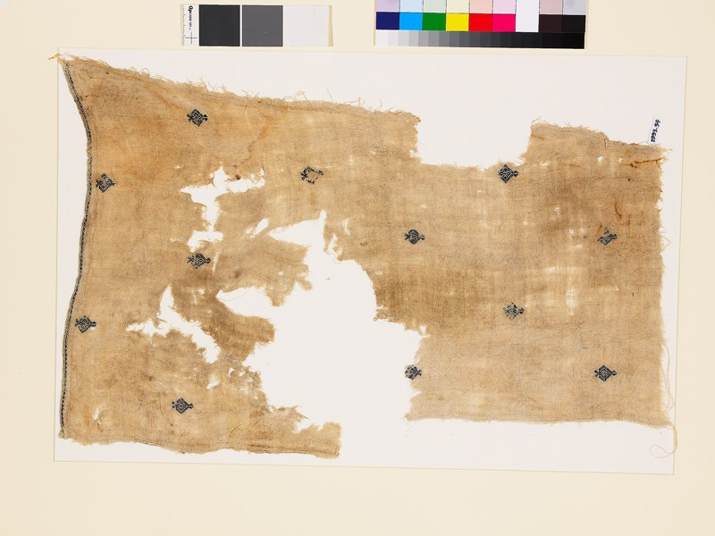 Textile fragment with diamond-shaped medallions and palmettes (EA1993.54, front           )
