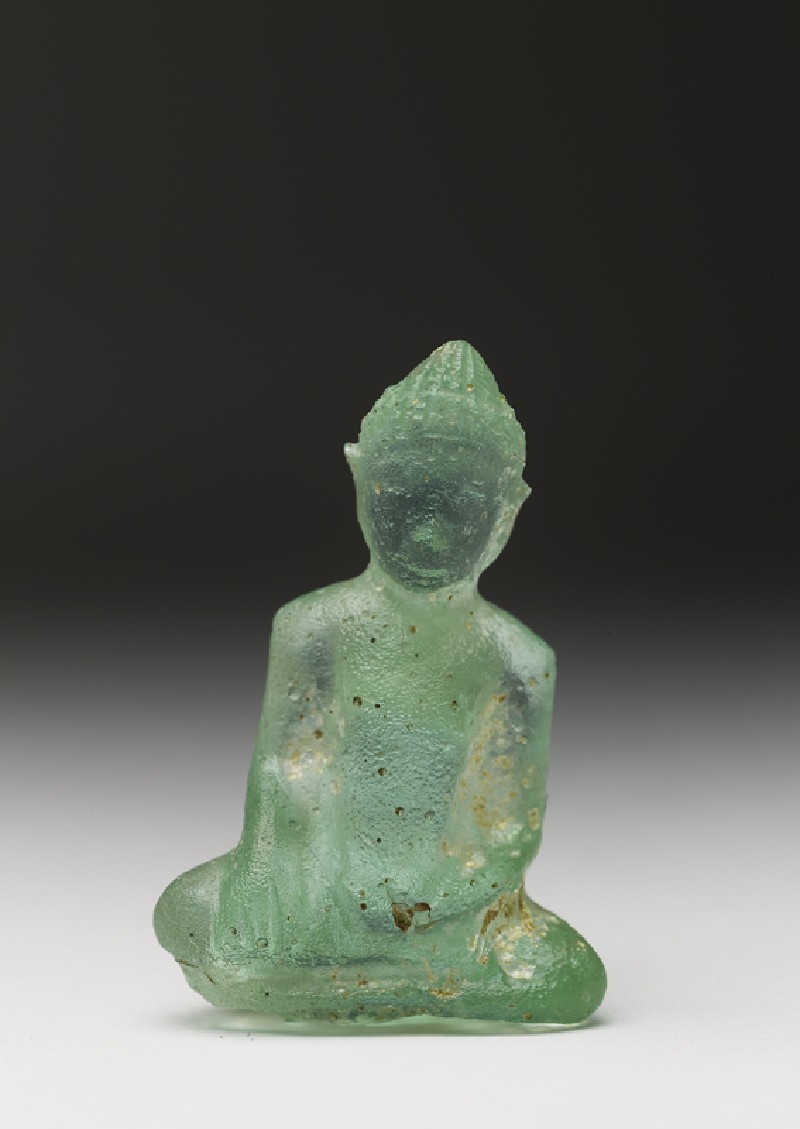 Glass figure of the Buddha (EA1996.10, front           )