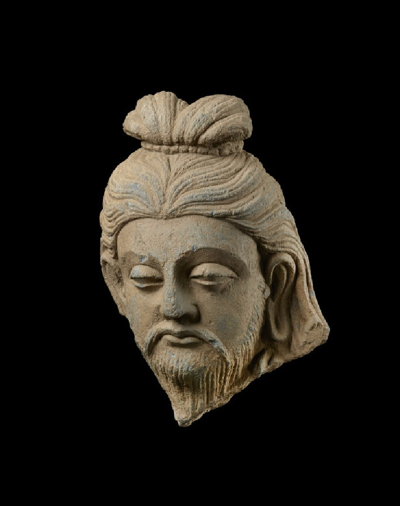Head of a bearded rishi or sage (EA1996.94)