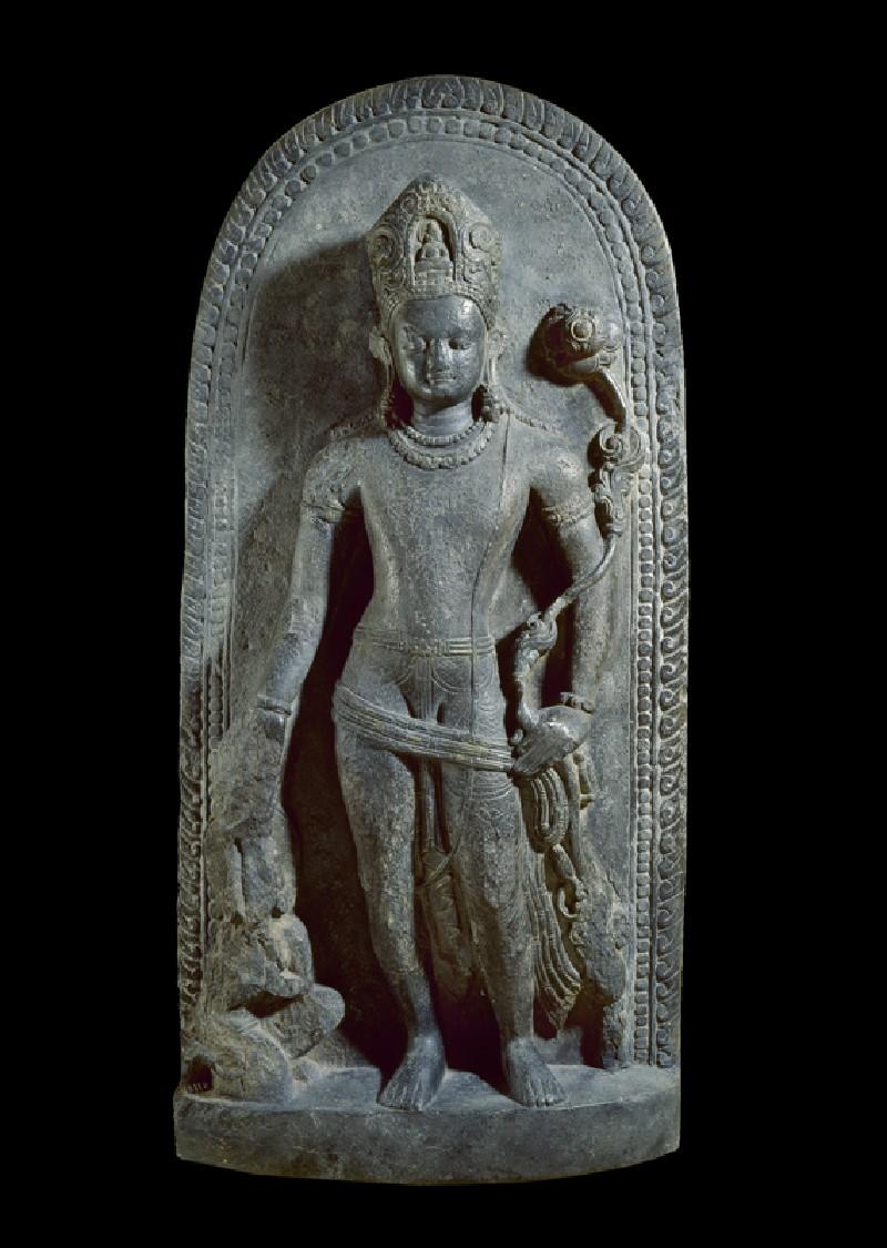 Stele with Avalokiteshvara holding a lotus (EA1997.185, front            )