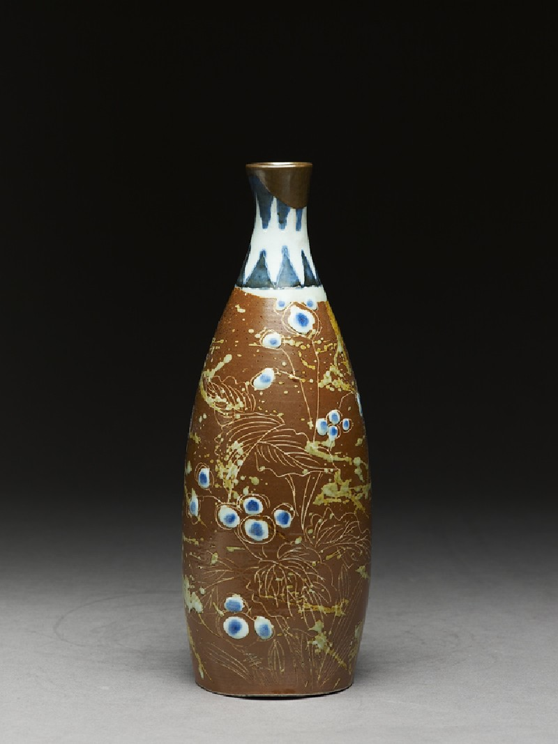 Bottle with butterflies and flowers (EA2003.71, side           )