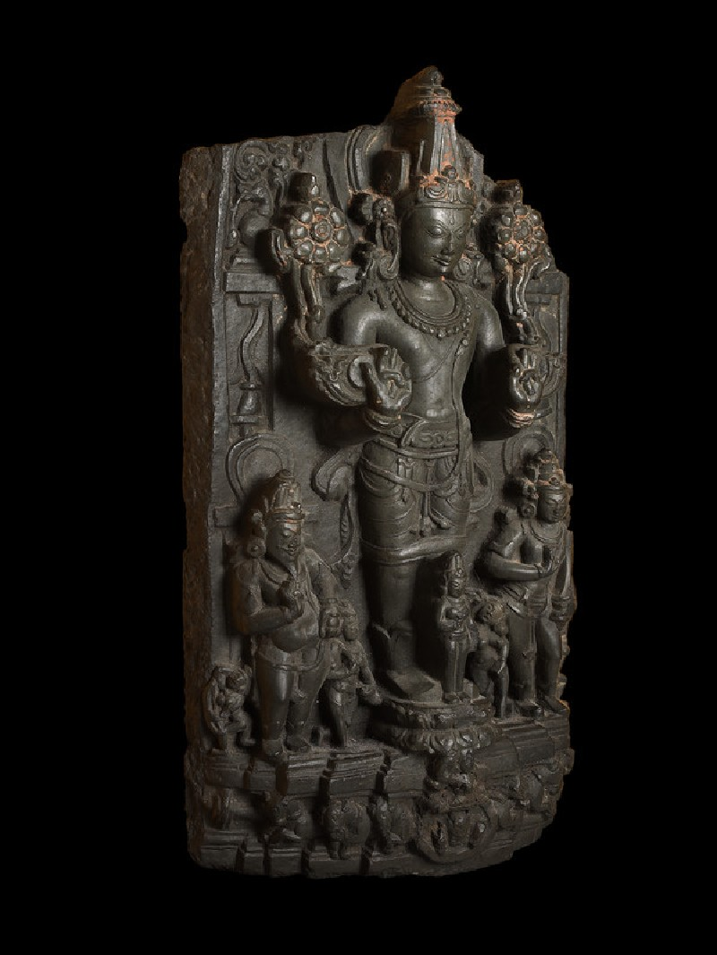 Stele with Surya, the Sun god, and attendants