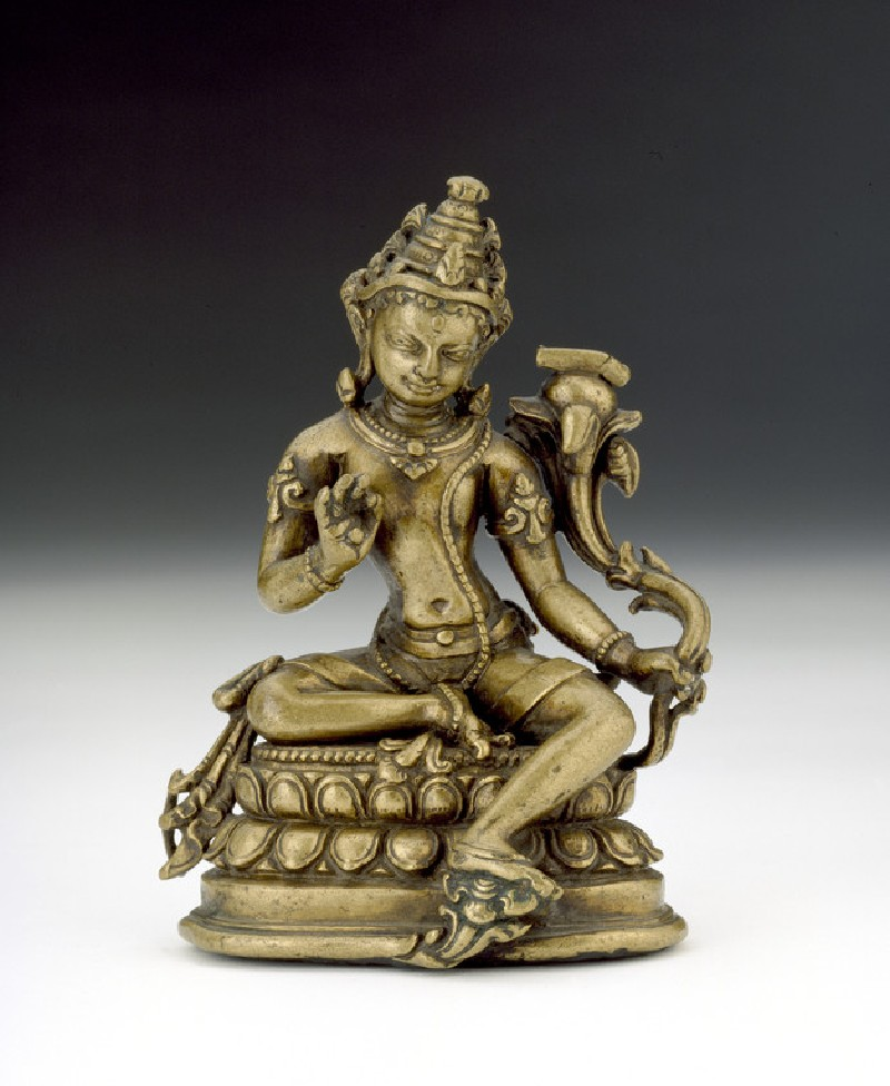 Seated figure of Manjushri (EA2013.74, front           )