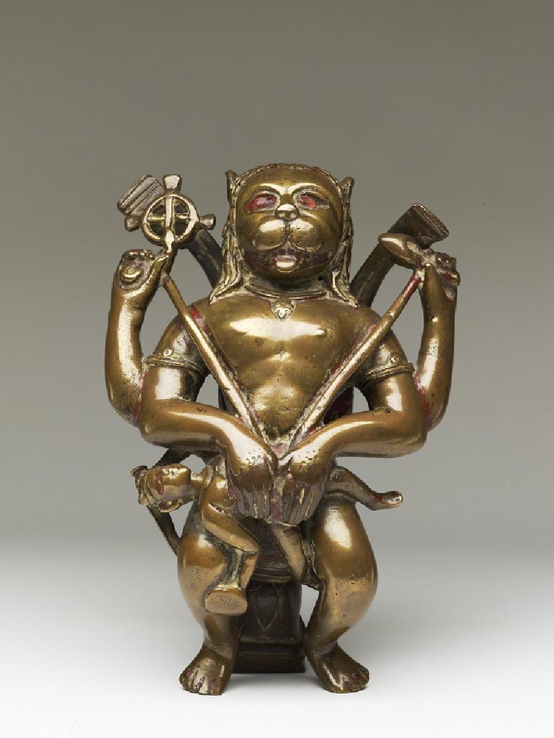 Figure of Narasimha eviscerating Hiranyakashipu