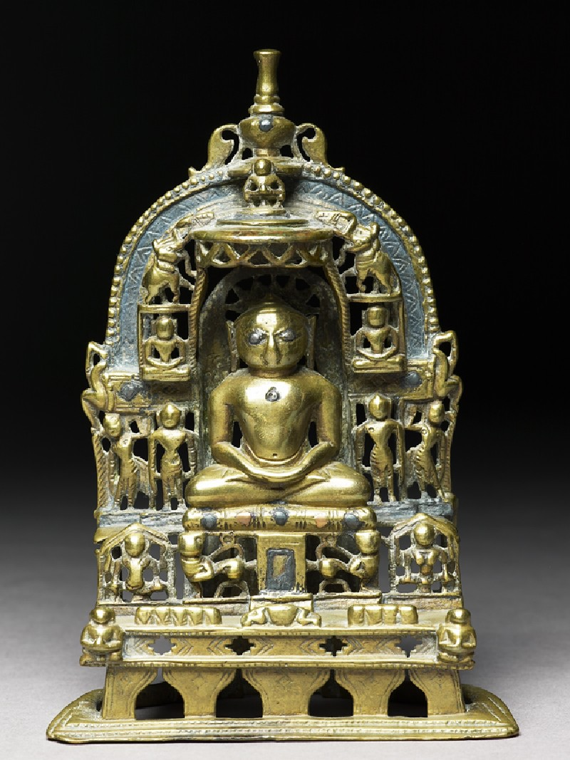 Shrine depicting the Tirthankara Kuntunatha (EAOS.110, front          )