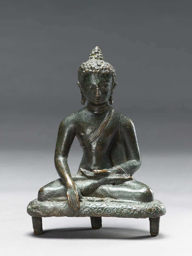Seated figure of the Buddha (EAOS.63, front         )
