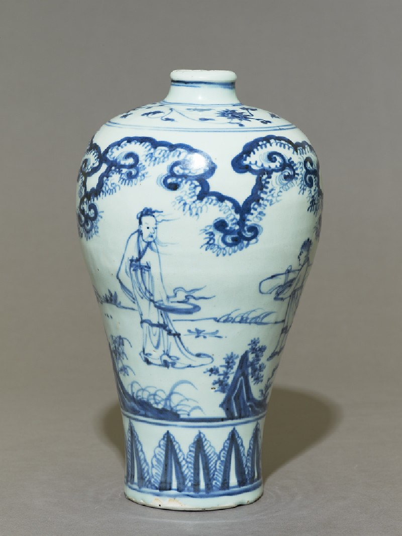 Blue-and-white meiping, or plum blossom, vase (EAX.1398, side          )