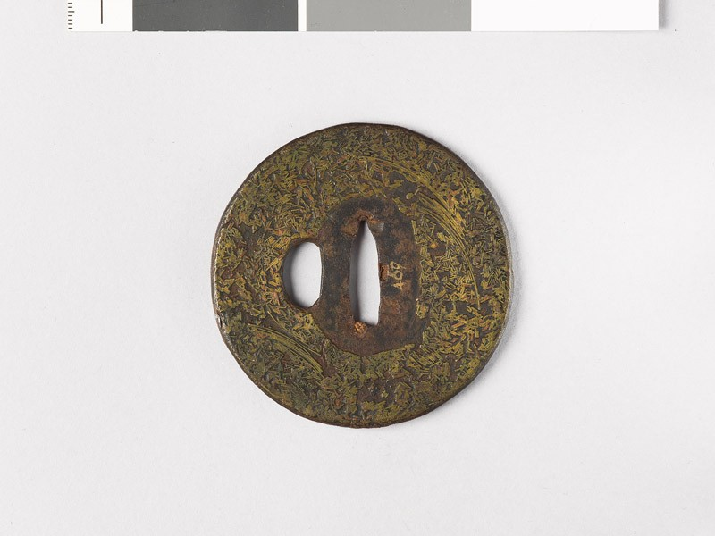 Tsuba incrusted with brass wire (EAX.10172, front           )