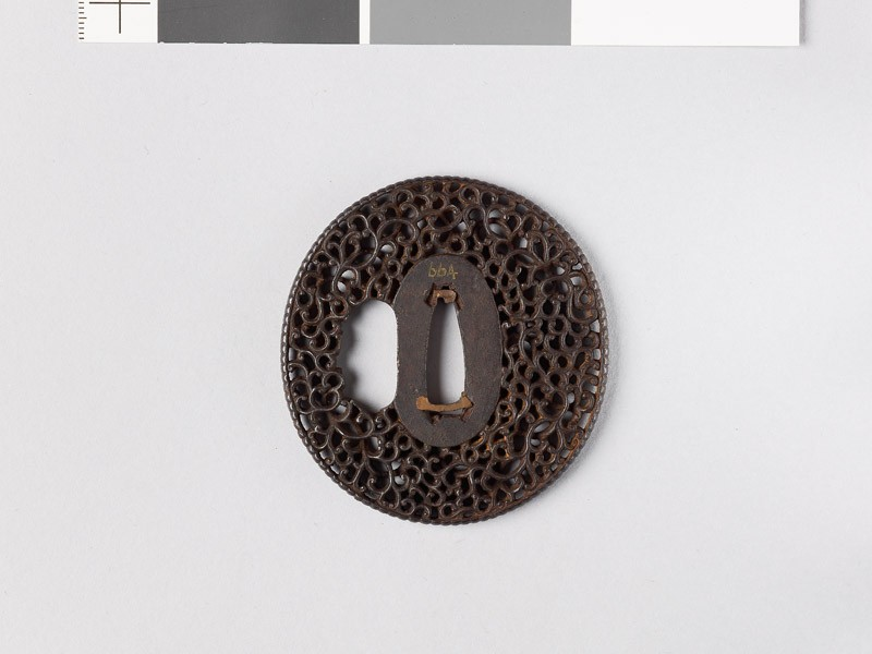 Tsuba with scrollwork (EAX.10804, front           )