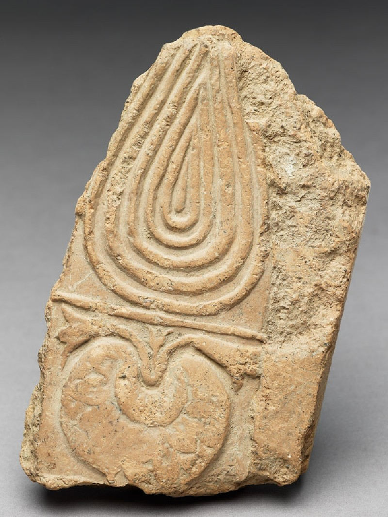 Tile fragment with lotus (EAX.2042, front          )
