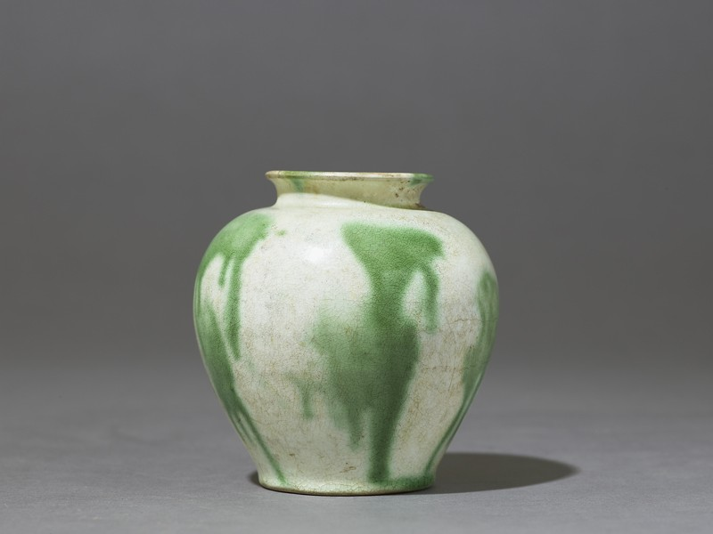 Jar with splashed decoration in green (EAX.3955, side          )