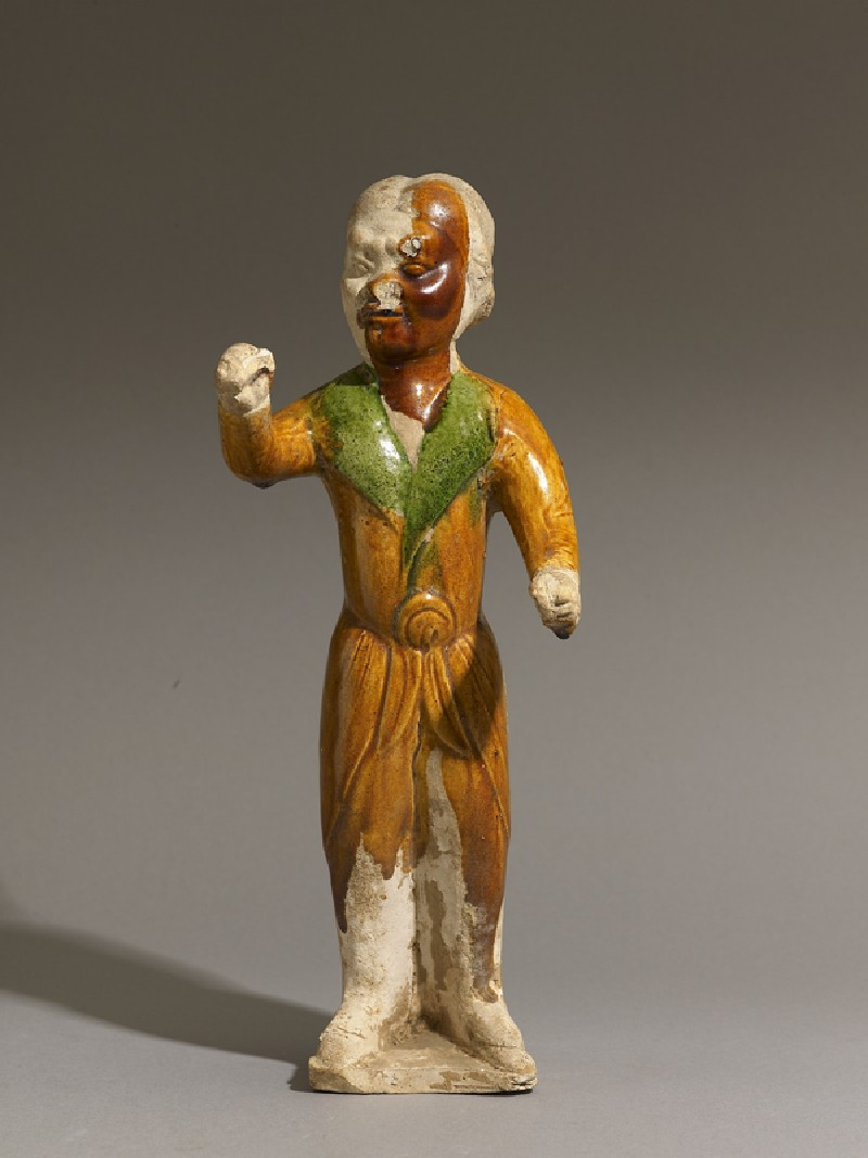 Earthenware figure of a groom (EAX.3961, front          )