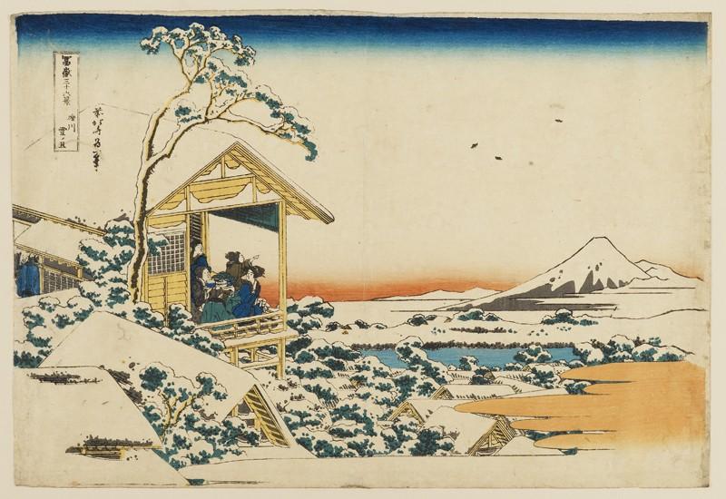 A snowy morning at Koishikawa (EAX.4218, front          )