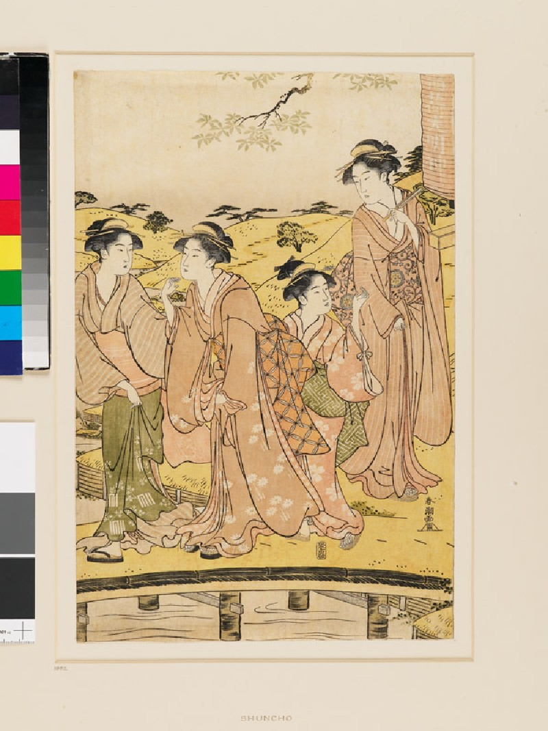 Visitors to the Inari Daimyōjin Shrine (EAX.4715, front          )