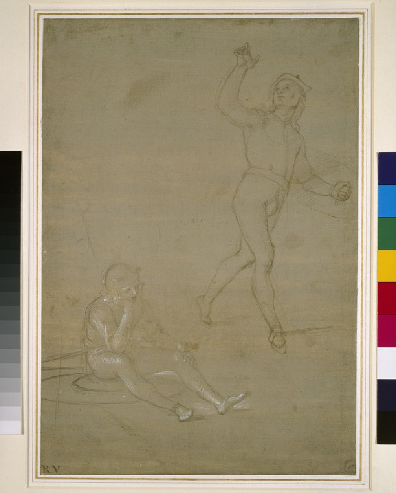 Studies for two soldiers, one asleep, the other standing (WA1846.149)