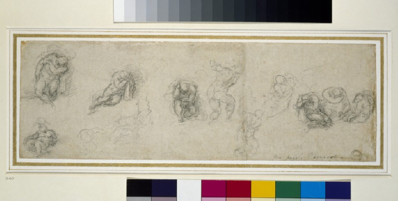 Studies of a sleeping Apostle and other Figures
