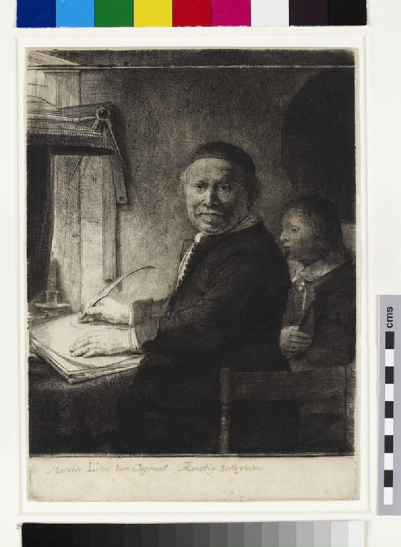 Lieven Willemsz. van Coppenol, Writing-Master: the smaller plate