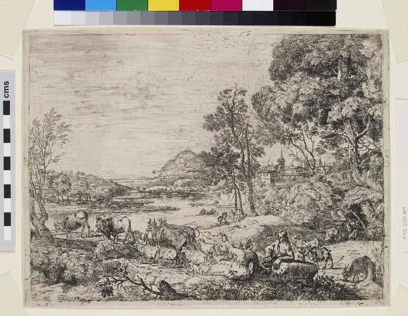 Berger et bergère conversant (Shepherd and shepherdess conversing in a landscape) (WA1855.524)