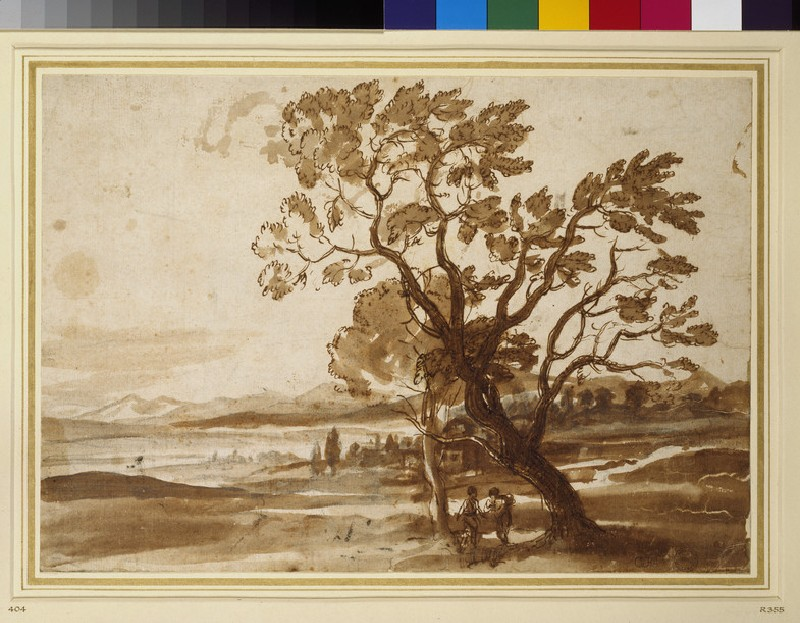 Landscape with two trees (WA1855.75)