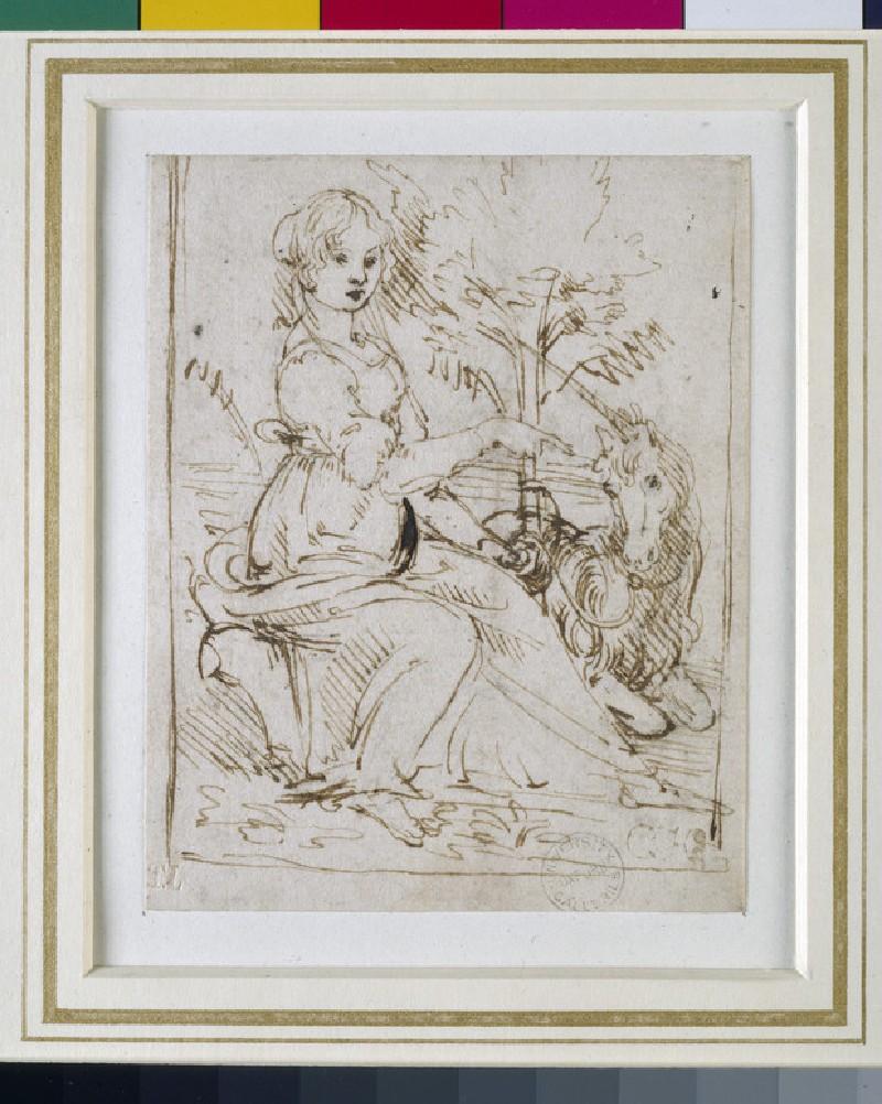 A Maiden with a Unicorn (WA1855.83.1)