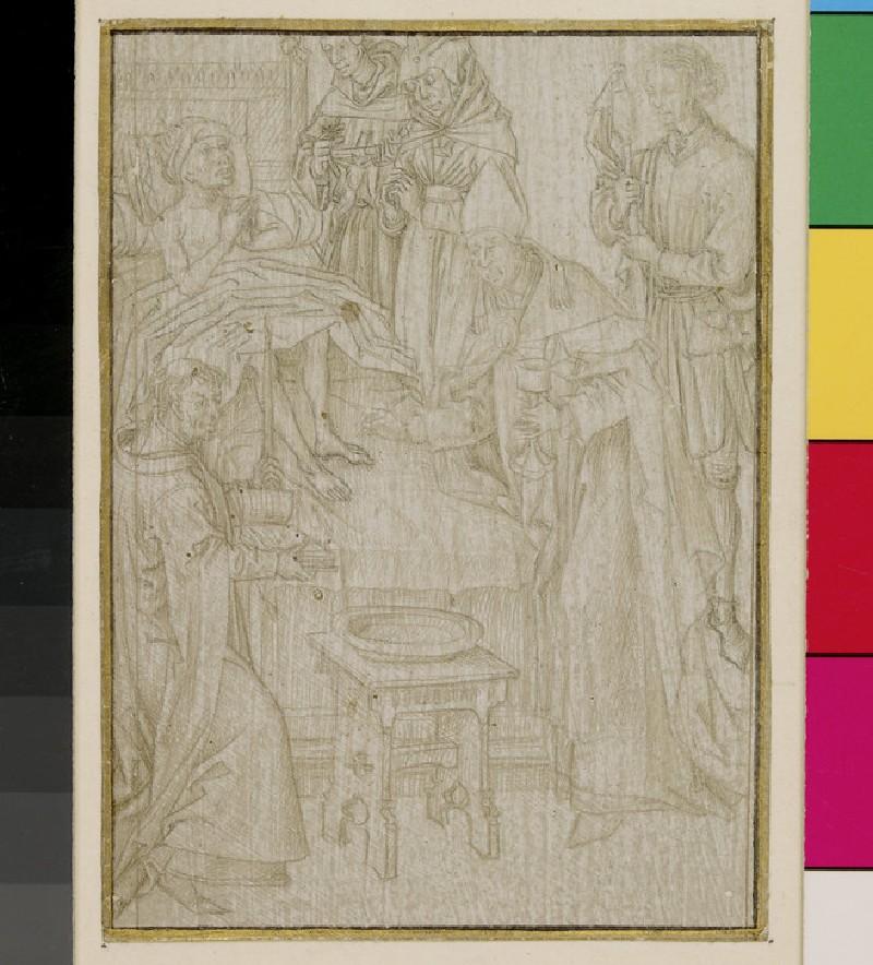 Recto: Extreme Unction <br />Verso:The Eucharist (WA1863.224)