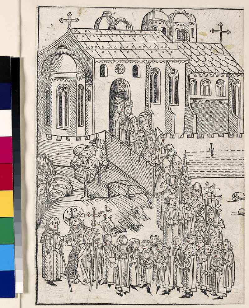Recto: Christ greeting a pilgrim<br />Verso: Christ in Limbo (WA1863.2262)