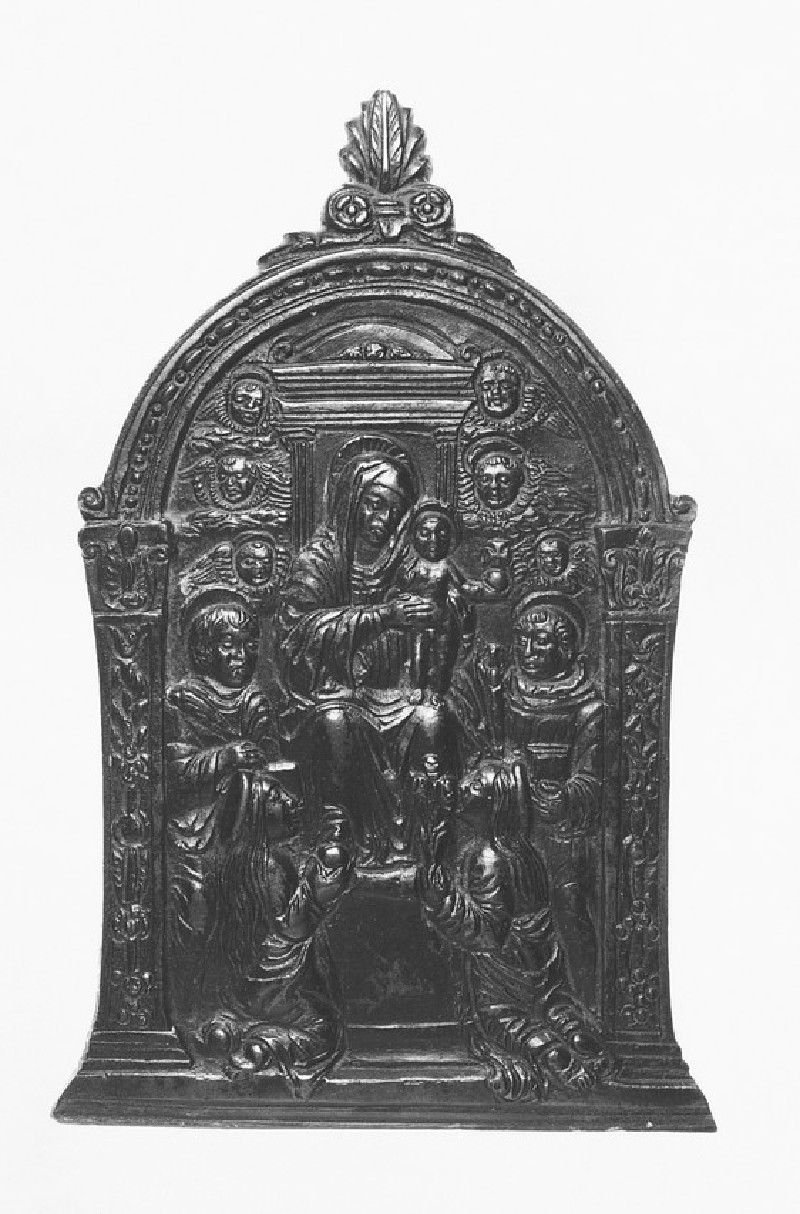 The Virgin and Child enthroned with four saints (WA1888.CDEF.B602)