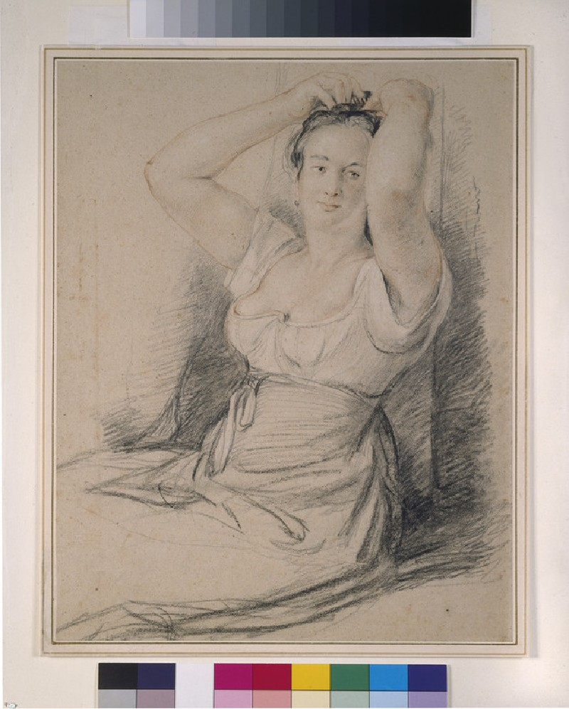 A Woman tiring her Hair (WA1942.119)