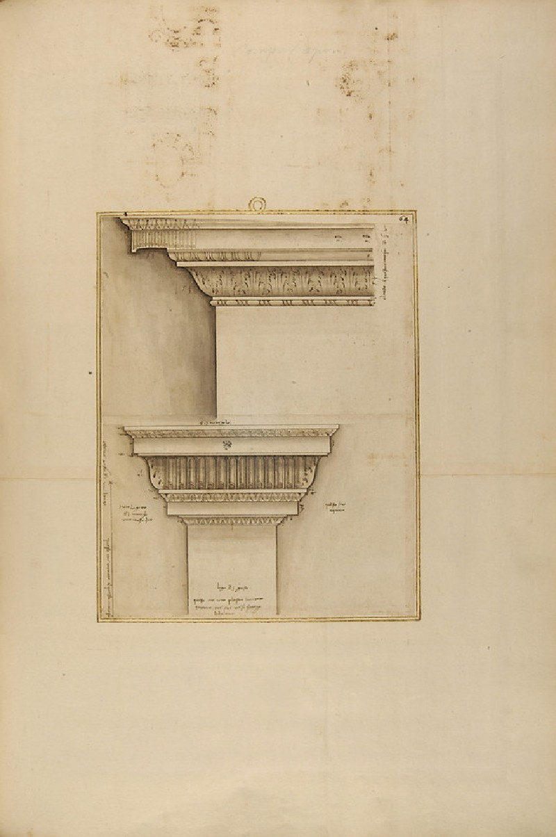 An entablature and a lesene, two sheets joined together (WA1942.55.169)