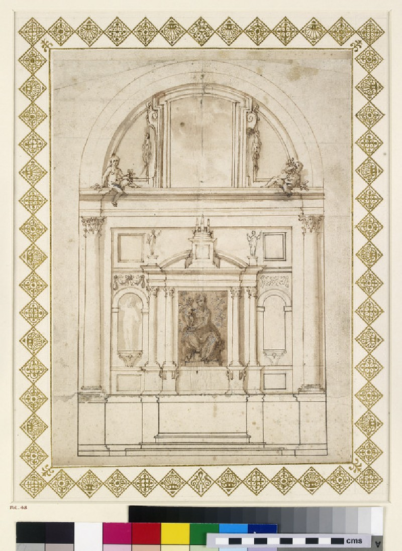 Design for an elevation of the back wall of the Chapel of the Dukes of Urbino at Loreto (WA1944.102.48)