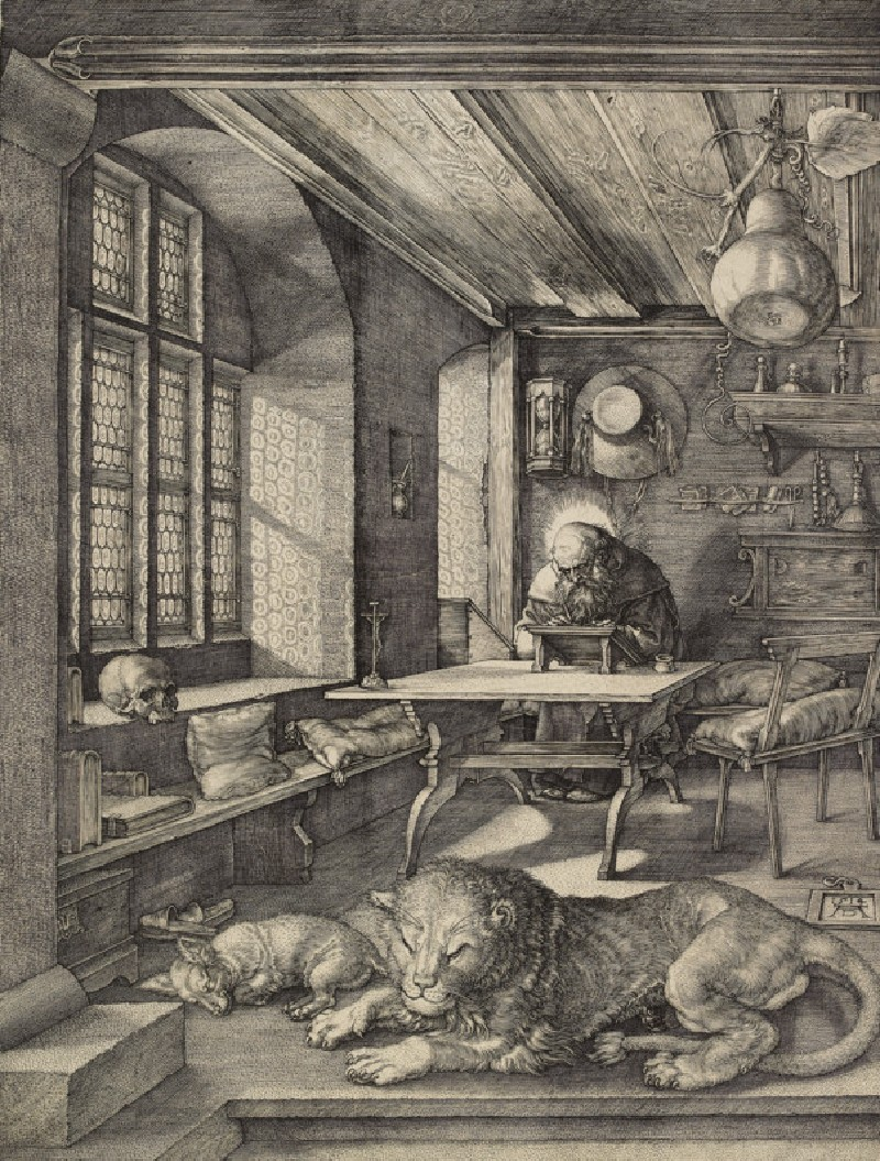 Saint Jerome in his study (WA1946.205)