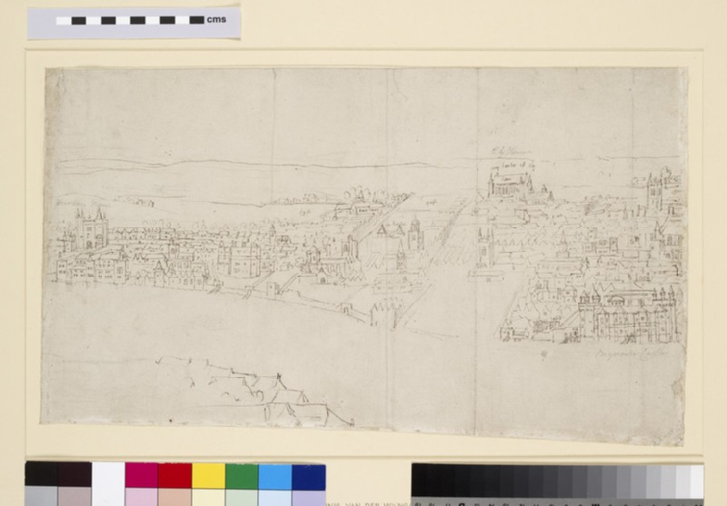 Panorama of London as seen from Southwark: Durham House to Barnard's Castle (WA1950.206.3)