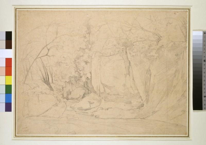 A woodland stream in a rocky gully (WA1954.70.40)