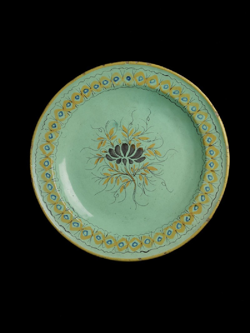 Plate, with floral motif (WA1958.57.34)