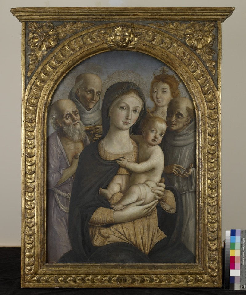 The Virgin and Child with four Saints (WA1959.6)