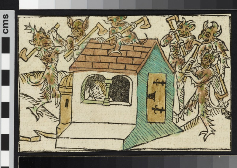 Devils Tormenting Abraham in His Cell (WA2003.Douce.1866)